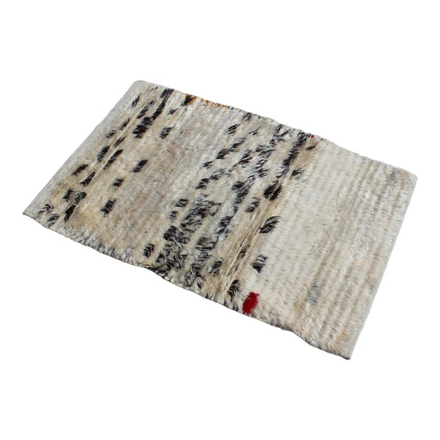 Contemporary New Cream and Black Rug - 2′1″ × 3′4″ For Sale