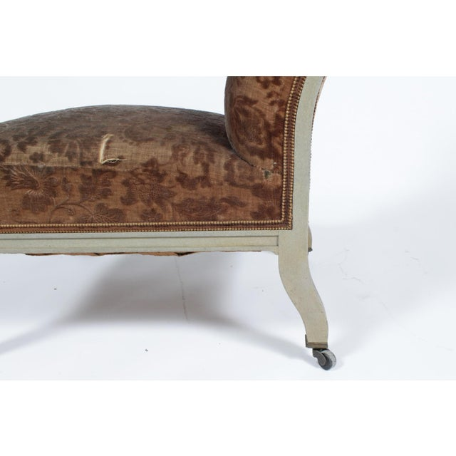 Wood Floral Upholstered Low Side Chair Napoleon III For Sale - Image 7 of 11