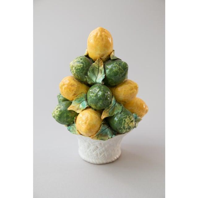 Green Vintage Italian Majolica Lemon & Lime Topiary For Sale - Image 8 of 8
