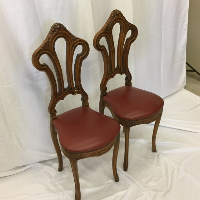 French Style Petite Accent Chairs - a Pair For Sale - Image 4 of 12