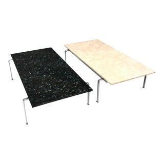 Preben Fabricius & Jorgen Kastholm Coffee Tables Fk 91 Marble / Granite Kill Int For Sale