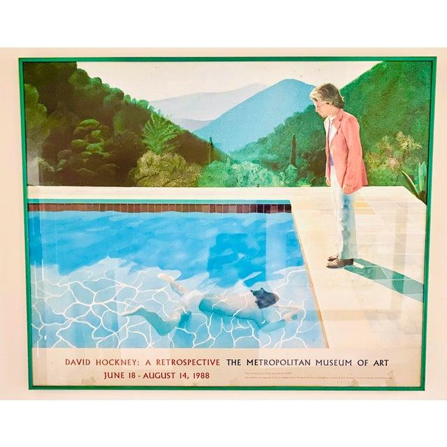 "Original Exhibit Poster ""David Hockney: A Retrospective"" Metropolitan Museum of Art 1988 For Sale - Image 10 of 11"