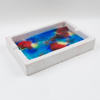 Bitossi Italy Raymor Ceramic Ashtray Bowl Fritte Fused Glass Mosaic Preview