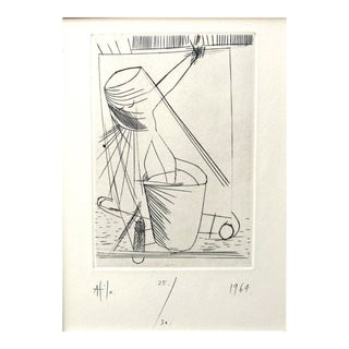 1964 - Atila Biro - Signed Aquatint Etching