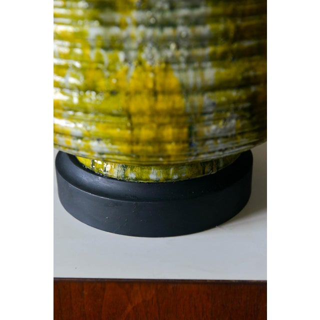 Ceramic Large Textured Ceramic Table Lamp, Circa 1975 For Sale - Image 7 of 8