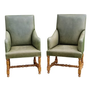 Rose Tarlow Melrose House Armchairs - a Pair