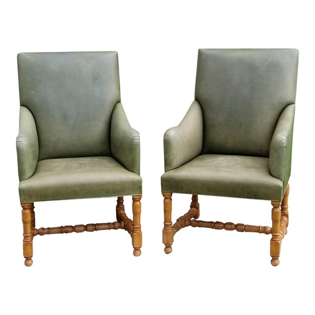 Rose Tarlow Melrose House Armchairs - a Pair For Sale