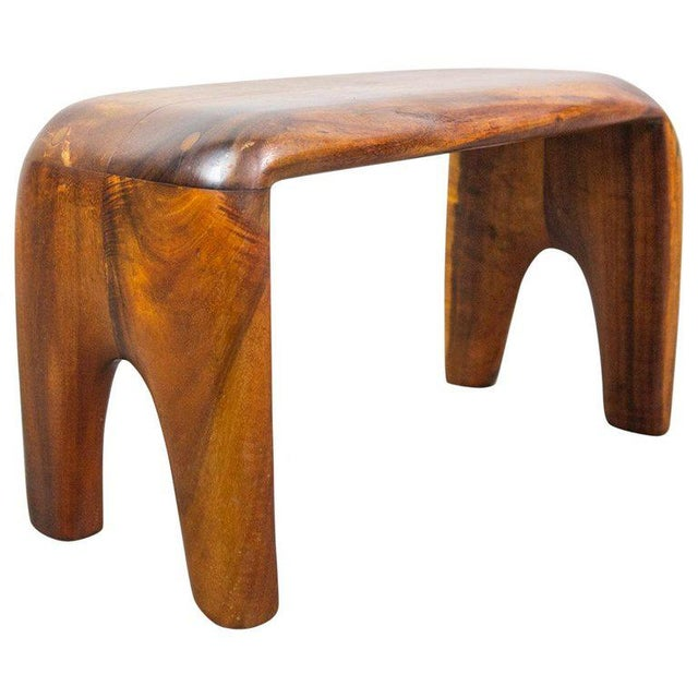 Brown Handcrafted Studio Stool or Bench by Mexican Mid-Century Modernist Don Shoemaker For Sale - Image 8 of 8