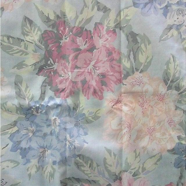 Schumacher Vintage Schumacher Waverly Cotton Fabric Flower Show Botanical Collection 2-2/5 Yd For Sale - Image 4 of 6