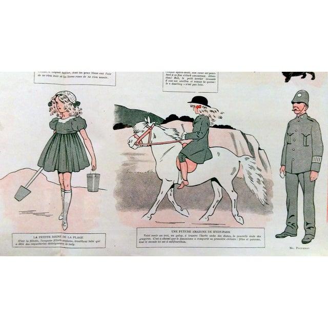"1910 La Vie Parisienne ""Brighton Beach"" Print - Image 4 of 7"
