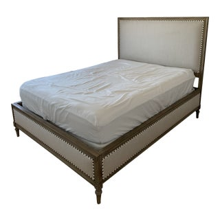 Restoration Hardware Maison Fabric King Bed For Sale