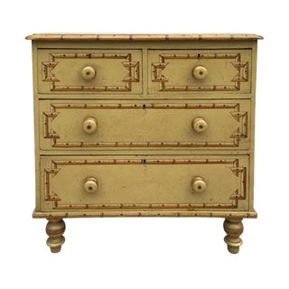 19th Century Boho Chic Style Painted Chest For Sale