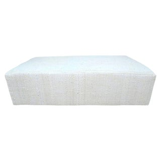 Fragments Identity Organic Handwoven Cocktail Ottoman For Sale