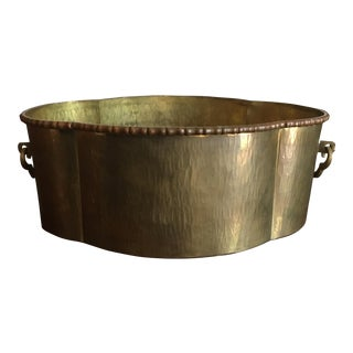 Mid-Century Modern Wide Brass Planter/Container