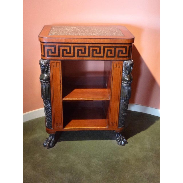 Regency Regency Period Center Table Bookcase For Sale - Image 3 of 6
