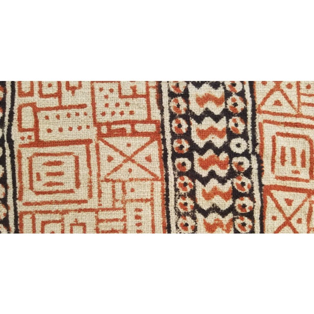 Indian Hand Woven Block Printed Throw For Sale - Image 3 of 5