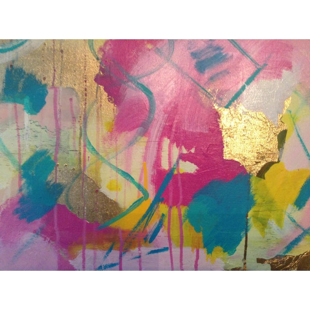 Michelle Chong Abstract Mixed Media on Canvas Pastel Painting For Sale - Image 6 of 9