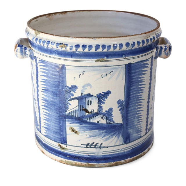Ceramic Nevers Faience 'Pot a Oranger' For Sale - Image 7 of 13