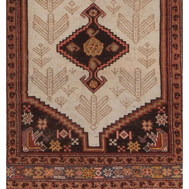 Islamic Early 20th Century Antique Malayer Village Rug - 3′6″ × 5′11″ For Sale - Image 3 of 8