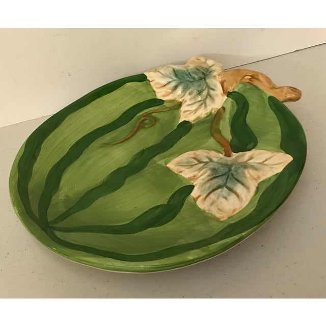 Vintage Boho Chic Style Ceramic Watermelon Platter For Sale In Dallas - Image 6 of 6