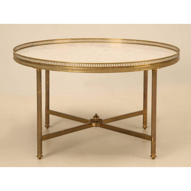 Vintage French Marble & Brass Cocktail Table - Image 2 of 10