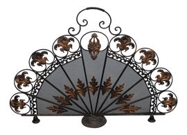 Image of French Country Fireplace Screens and Fenders