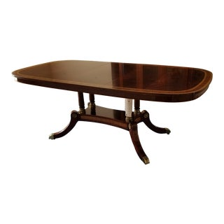Traditional Style Mahogany Dining Table For Sale