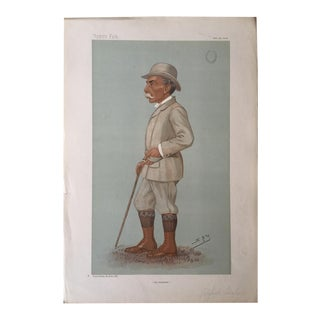 Antique Caricature of Alfred Austin From Vanity Fair, February 20, 1996