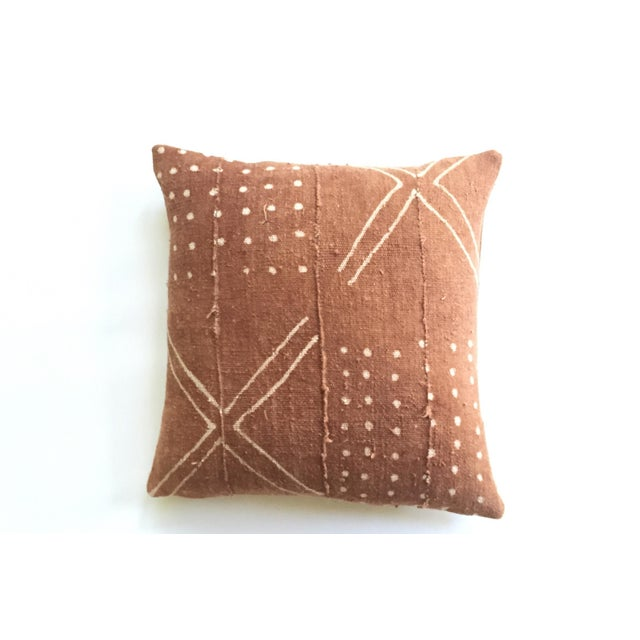 African Mudcloth Rust Pillow Cover - Image 2 of 7
