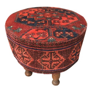 1960s Vintage Persian Fabric Stool For Sale