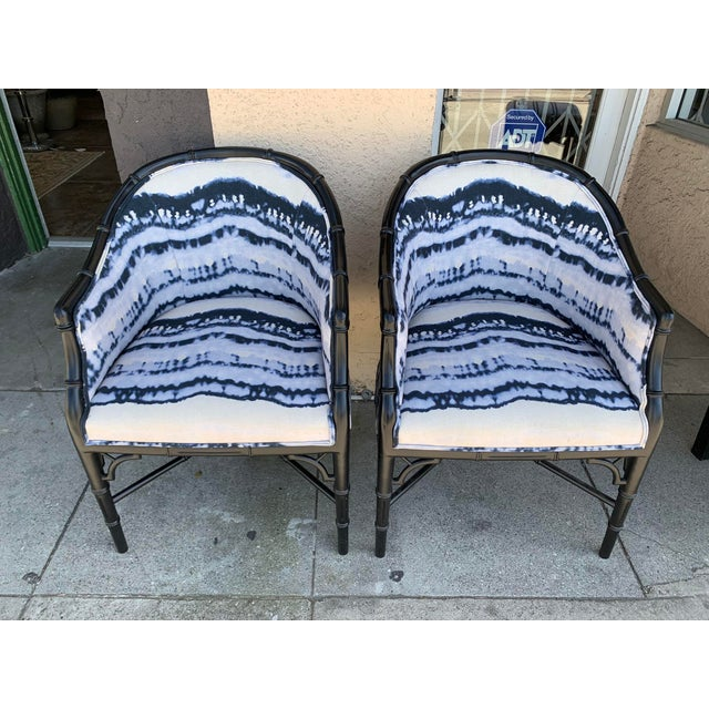Mid-Century Faux Bamboo Side Chairs - a Pair For Sale - Image 10 of 10