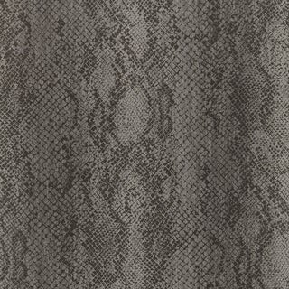 Sample - Schumacher Cody Snakeskin Wallpaper in Smoke For Sale