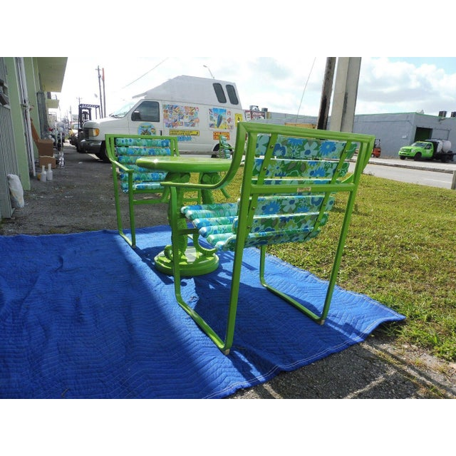 60's Vintage Samsonite Wrought Iron Patio Set For Sale - Image 9 of 12