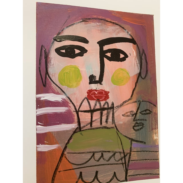 Contemporary Original Abstract Contemporary Face Painting For Sale - Image 3 of 9