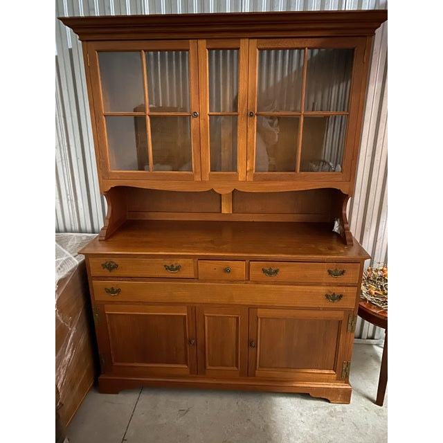 Vintage Teak China Cabinet/Buffet For Sale In Chicago - Image 6 of 6