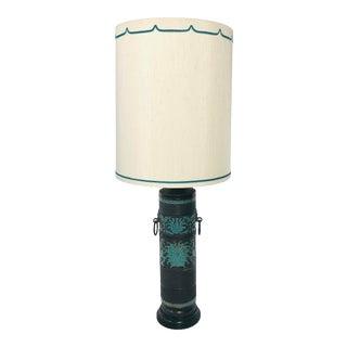 Mid-Century Marbro Enamel & Brass Table Lamp For Sale