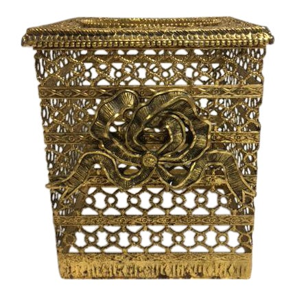 Hollywood Regency Goldtone Kleenex Box - Image 1 of 7
