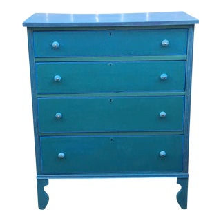 Boho Chic Vintage High Boy Dresser For Sale