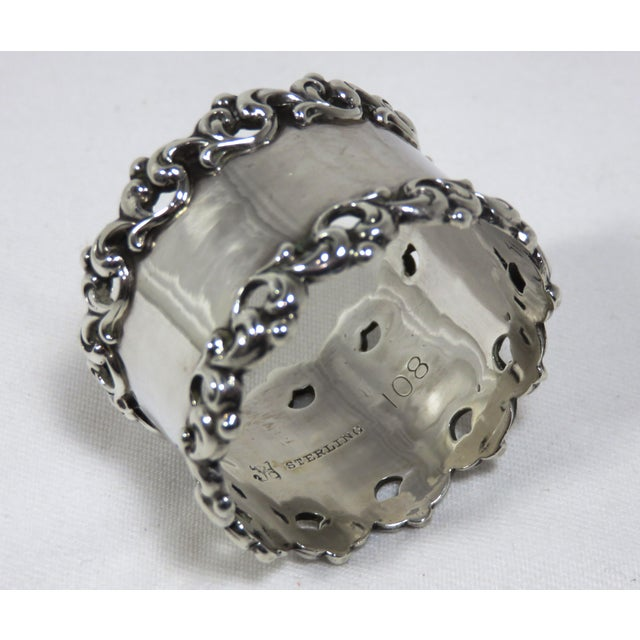 Traditional Late 19th Century Antique Towle Silver Company Napkin Ring For Sale - Image 3 of 7