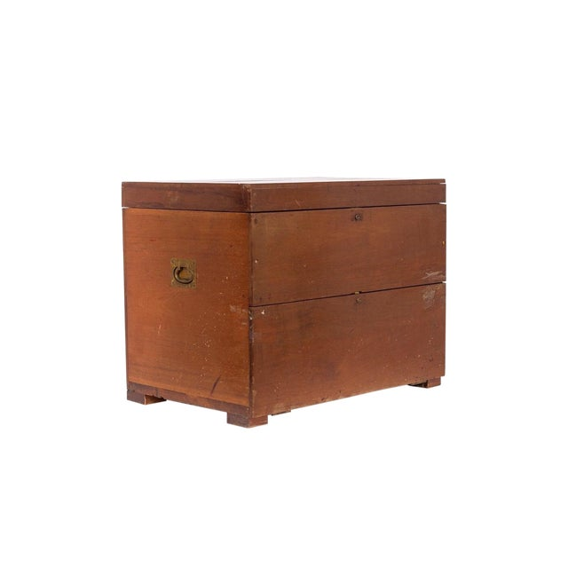 Antique 19th C. Wooden Military Field Desk For Sale
