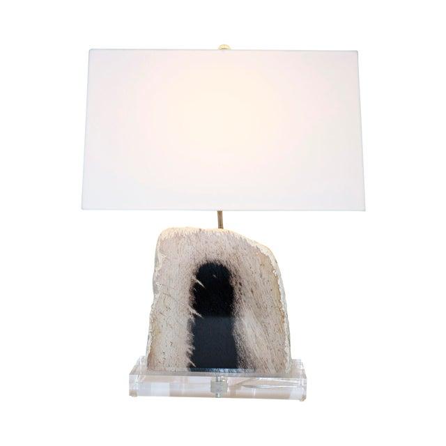 Petrified Palm Wood Lamp - Image 1 of 2