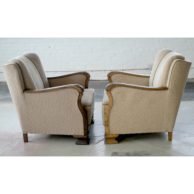 Danish 1940's Club Chairs - A Pair - Image 3 of 8
