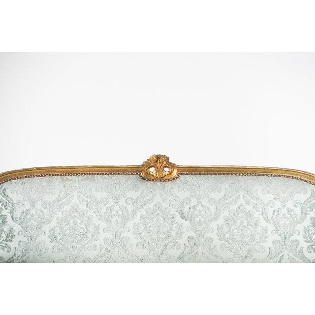 1930s Vintage Adalie French Mint Sofa For Sale - Image 4 of 6