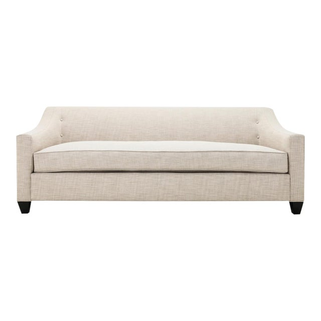 Clad Home Custom Ivory Linen Sofa - Image 1 of 6