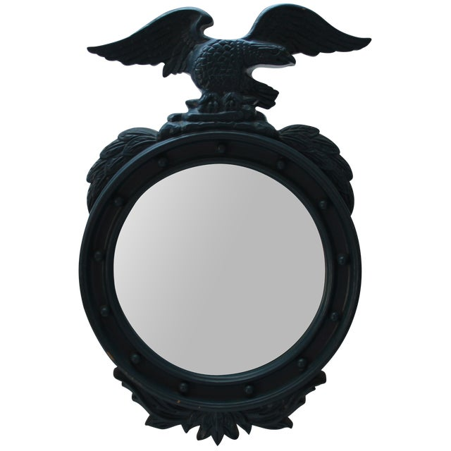 Painted Blue Eagle Federal Mirror For Sale
