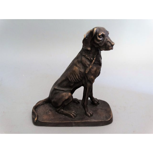 Early French Bronze Sporting Dog For Sale - Image 4 of 8
