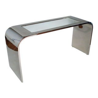 Steel Waterfall Console Table by Stanley Jay Friedman for Brueton For Sale