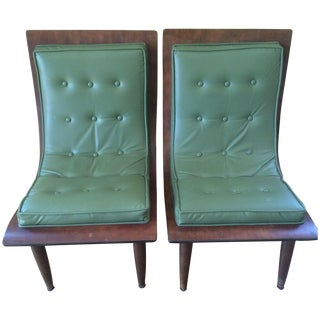 Mid-Century Carter Brothers Scoop Chairs - A Pair