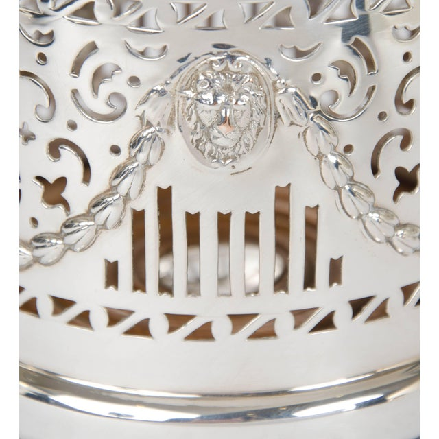 Early 20th Century Silver Plate High Wine Coaster For Sale - Image 5 of 6