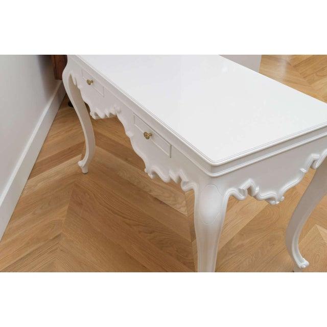Italian Lacquered Partner Desk For Sale - Image 5 of 10